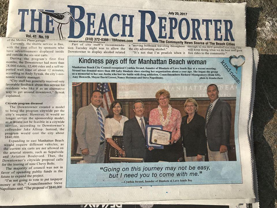 Kindness pays off - Manhattan beach reporter